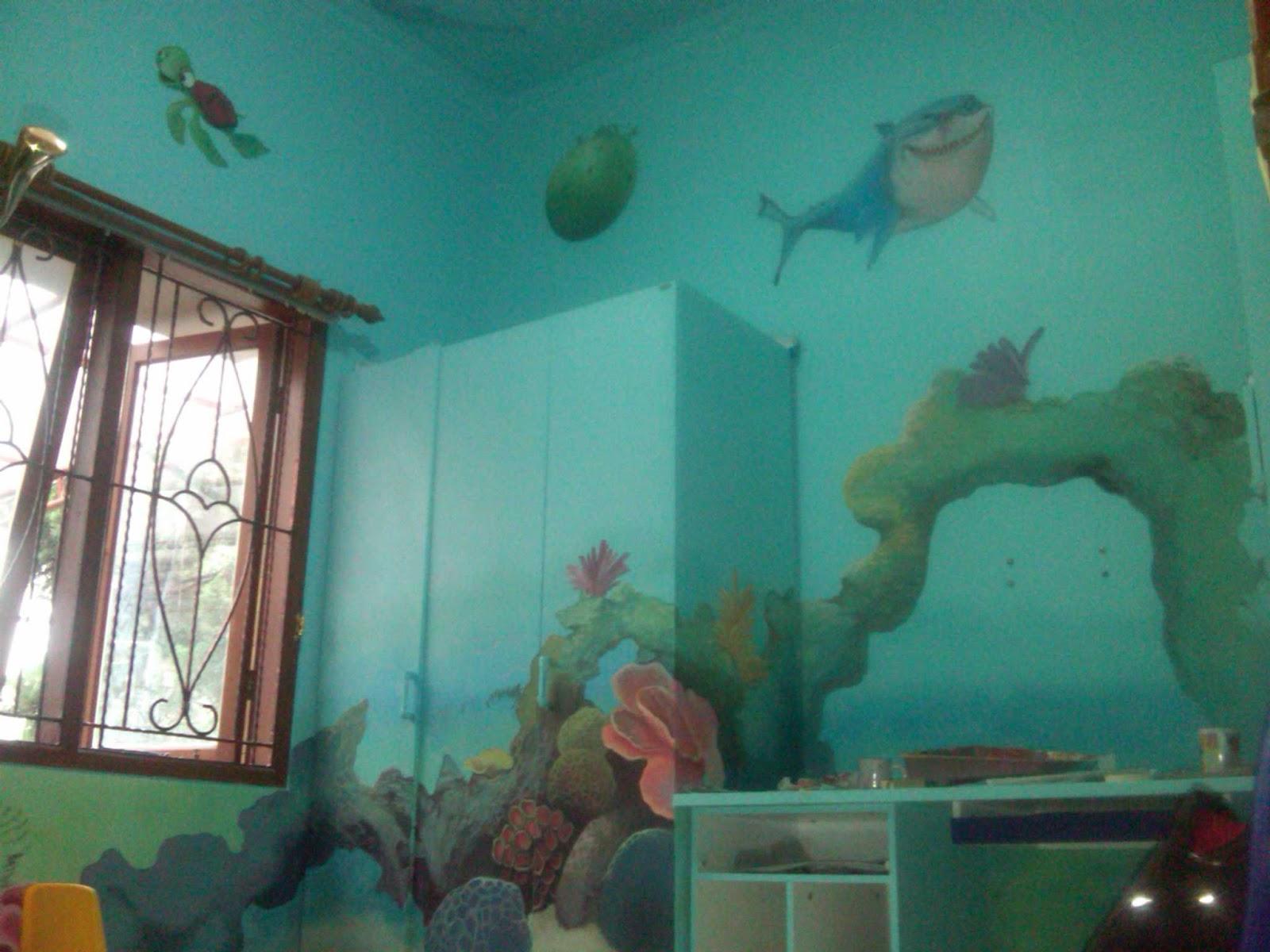 Lukisan dinding kamar anak | dekor rumah