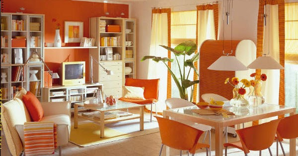 Salas color naranja ideas para decorar dise ar y - Disenar tu casa ...