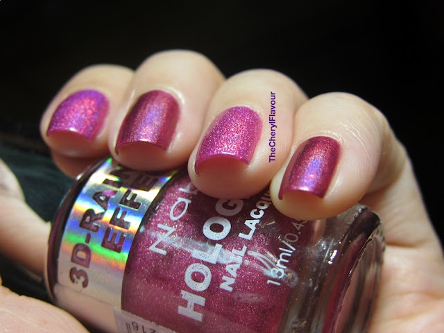 Nabi Holographic Flamingo vs China Glaze Infra Red