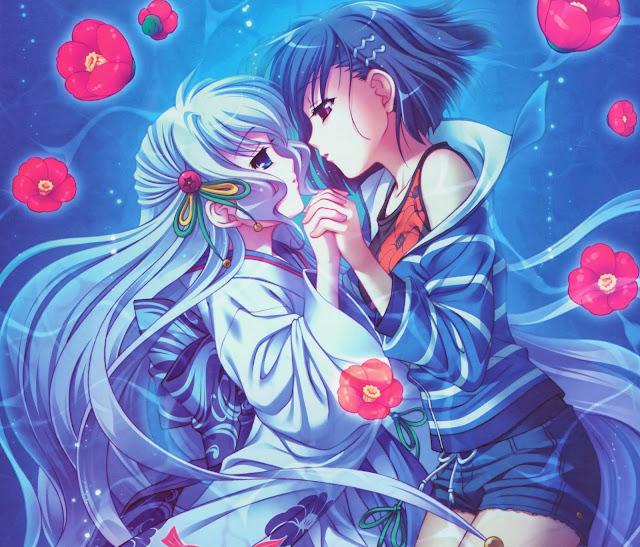 anime girls,anime yuri, anime kiss