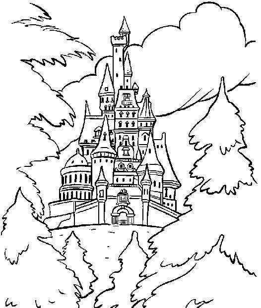 gaston coloring pages - os dejo algunos dibujos para colorear del castillo de la