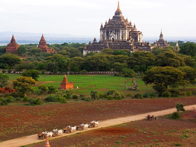 Bagan travel per oxcart