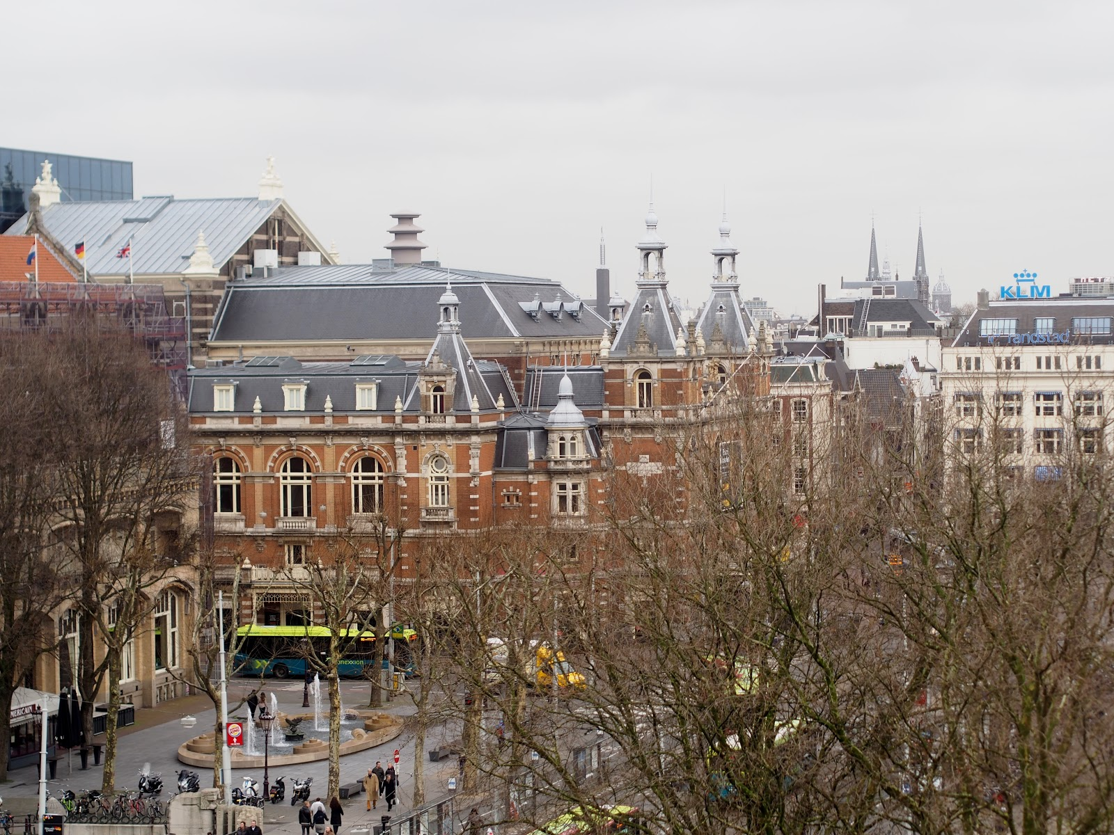 Hotel room view on Leidseplein Amsterdam (Marriott Hotels Amsterdam)