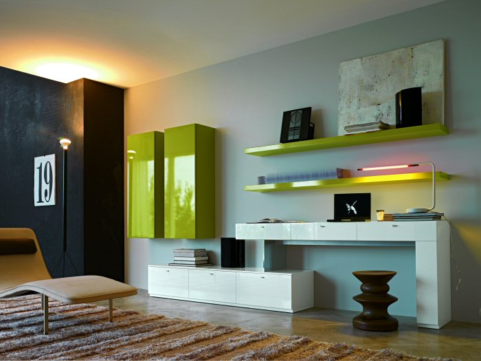 Furniture interior design the living room with modular - Modular living room design ...