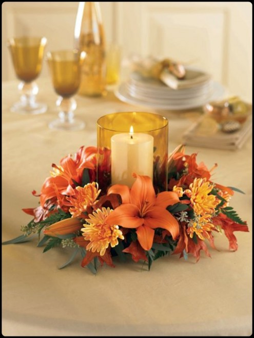 Beautiful Thanksgiving Table Decorations with a Flower to Decorations