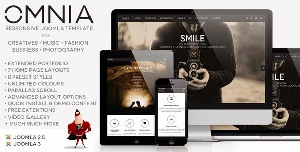 JM Omnia, Multipurpose, Responsive Joomla Template