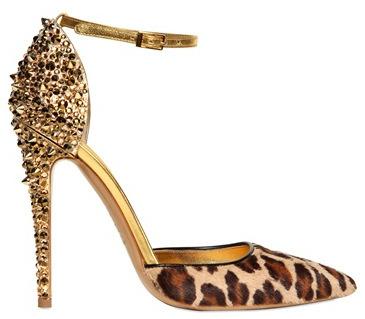 Lalique studded DSquared pumps leopard print