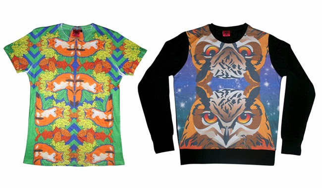 fox tshirt, owl jumper, dazzle and jolt