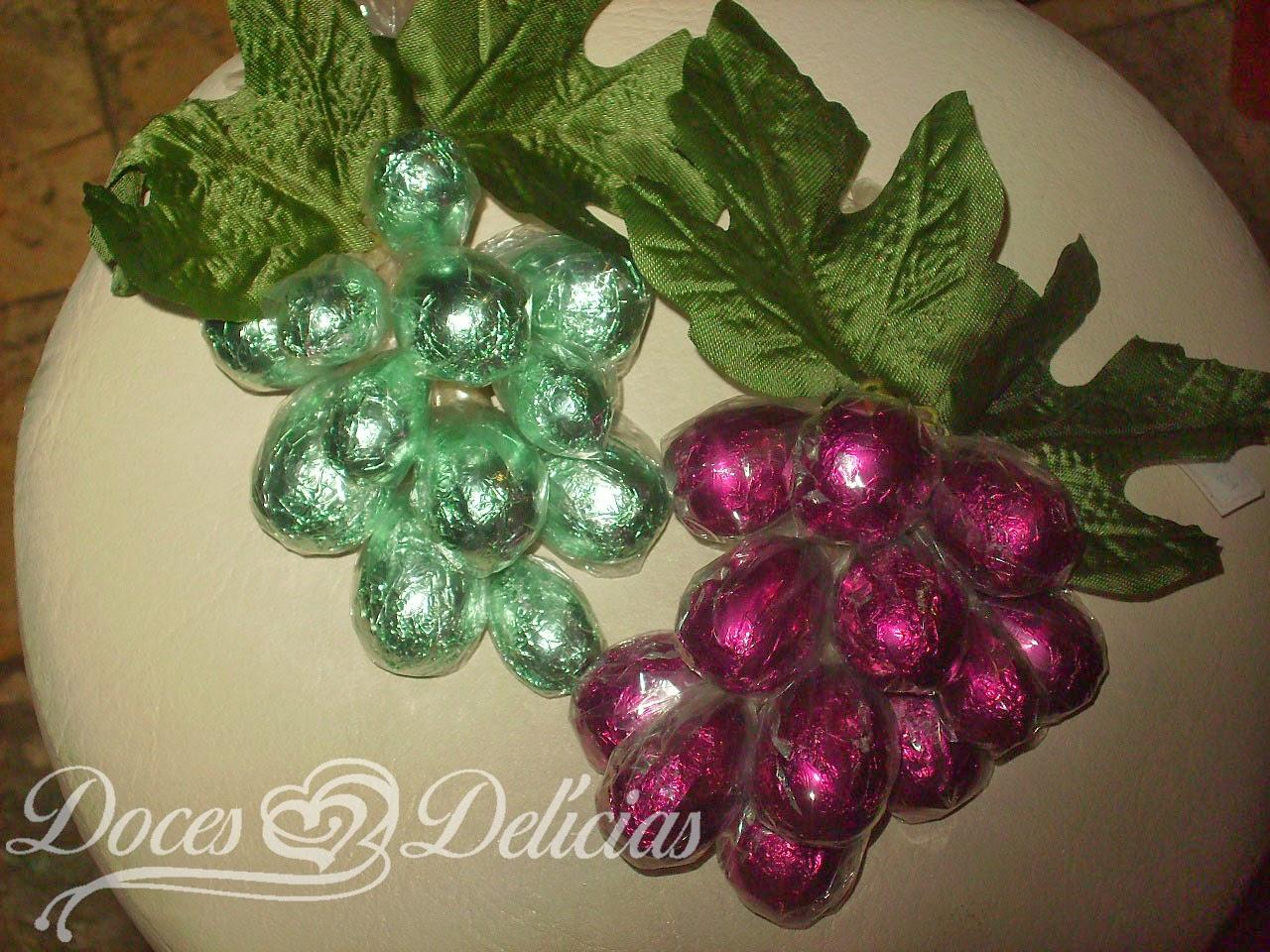 Cachos de uva chocolate