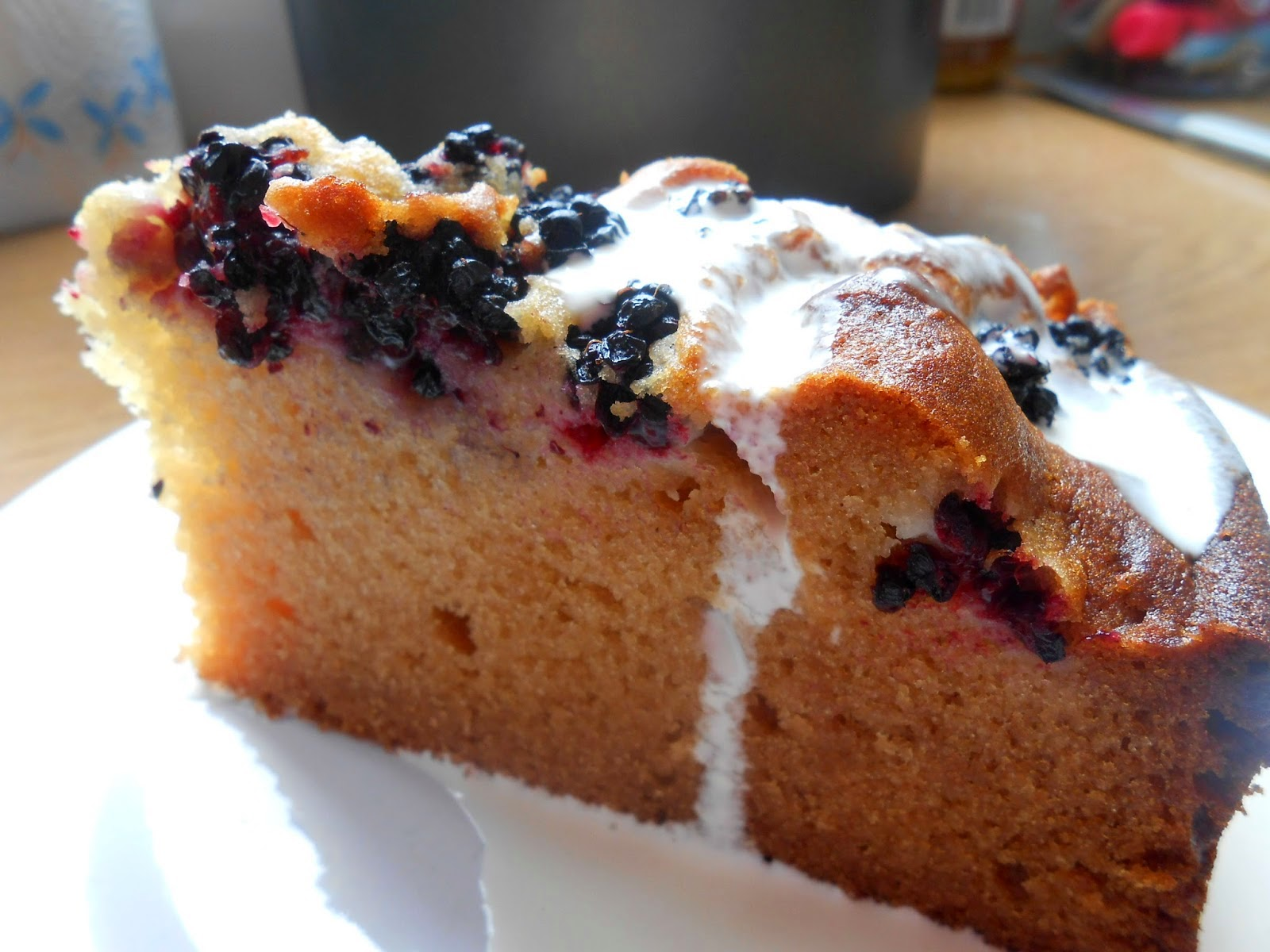 Blackberry Honey Cake Slice Cream