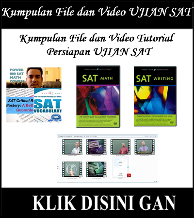 Jual Buku digital, Video Tutorial persiapan tes SAT Murah