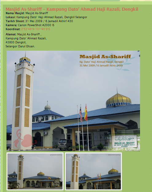 Jom Sedekah ke Masjid