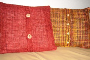 Fundas para almohadones hechas con camisas que no usamos