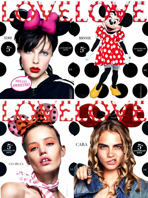 Minnie Mouse, Love Magazine, Cara Delevigne