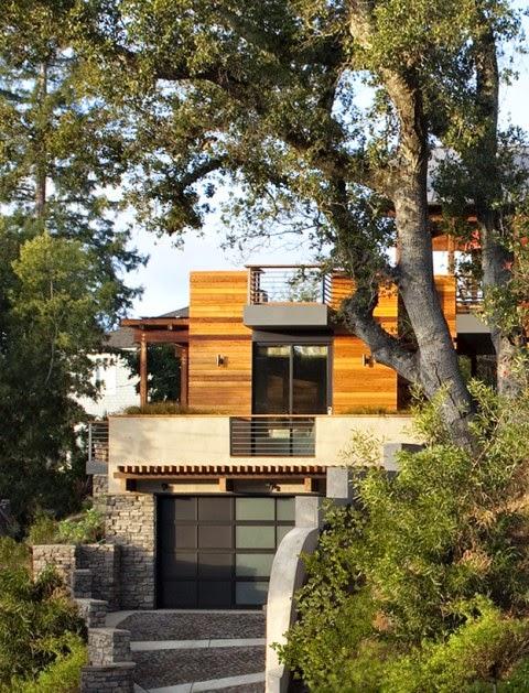 Fachadas de casas chalets - Chalet de madera y piedra ...