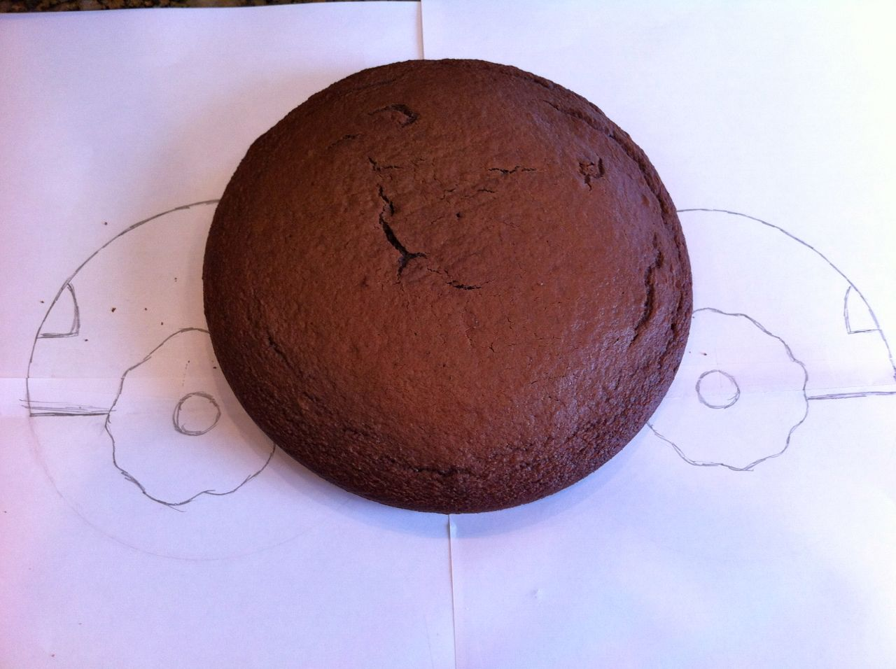 Round Cake Template Place the 6 inch round cake on