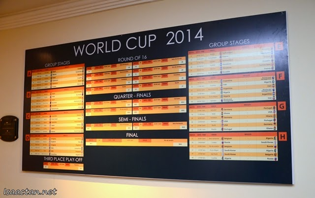 Mark your calendar for the upcoming World Cup 2014