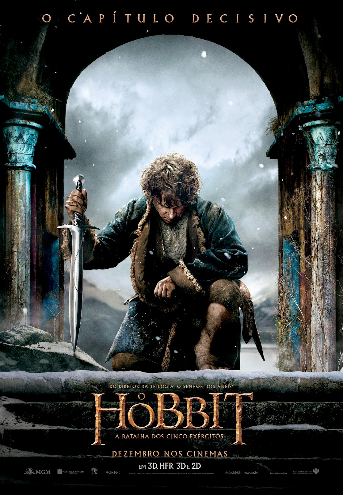 Pôster/capa/cartaz nacional de O HOBBIT: A BATALHA DOS CINCO EXÉRCITOS (The Hobbit: The Battle of the Five Armies)