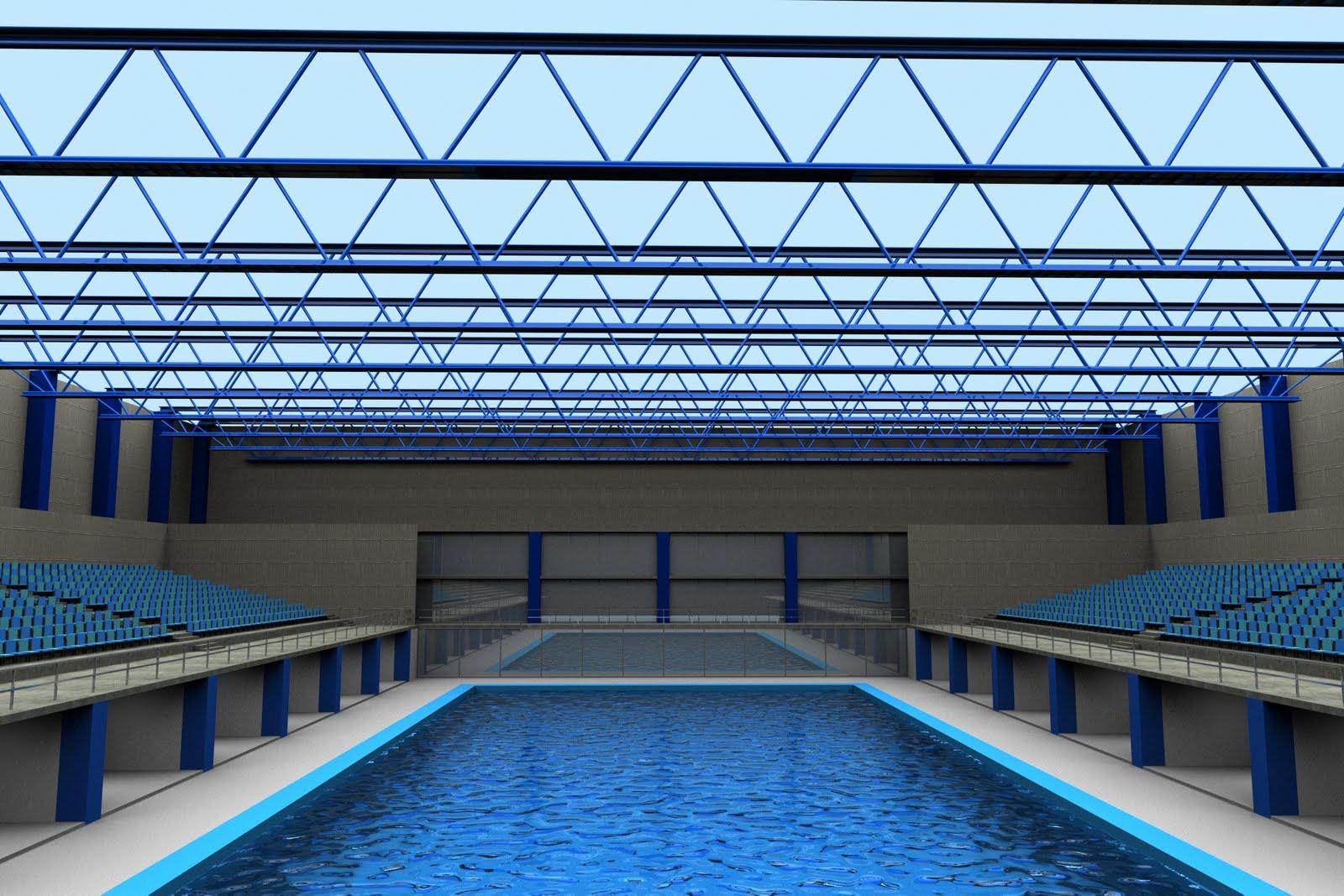 Der architekt render perspectiva desde la piscina for Donde puedo estudiar arquitectura