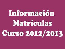 Más información sobre matrículas