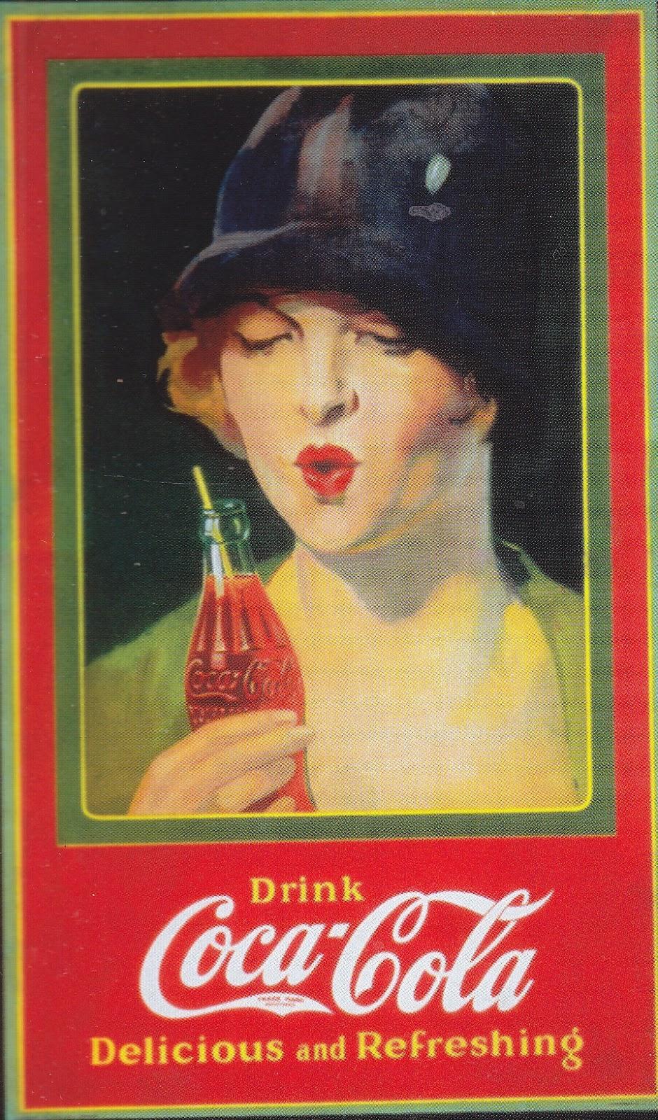 Vintage Soft Drink Advertising 1920 S Flapper Enjoying A Coke