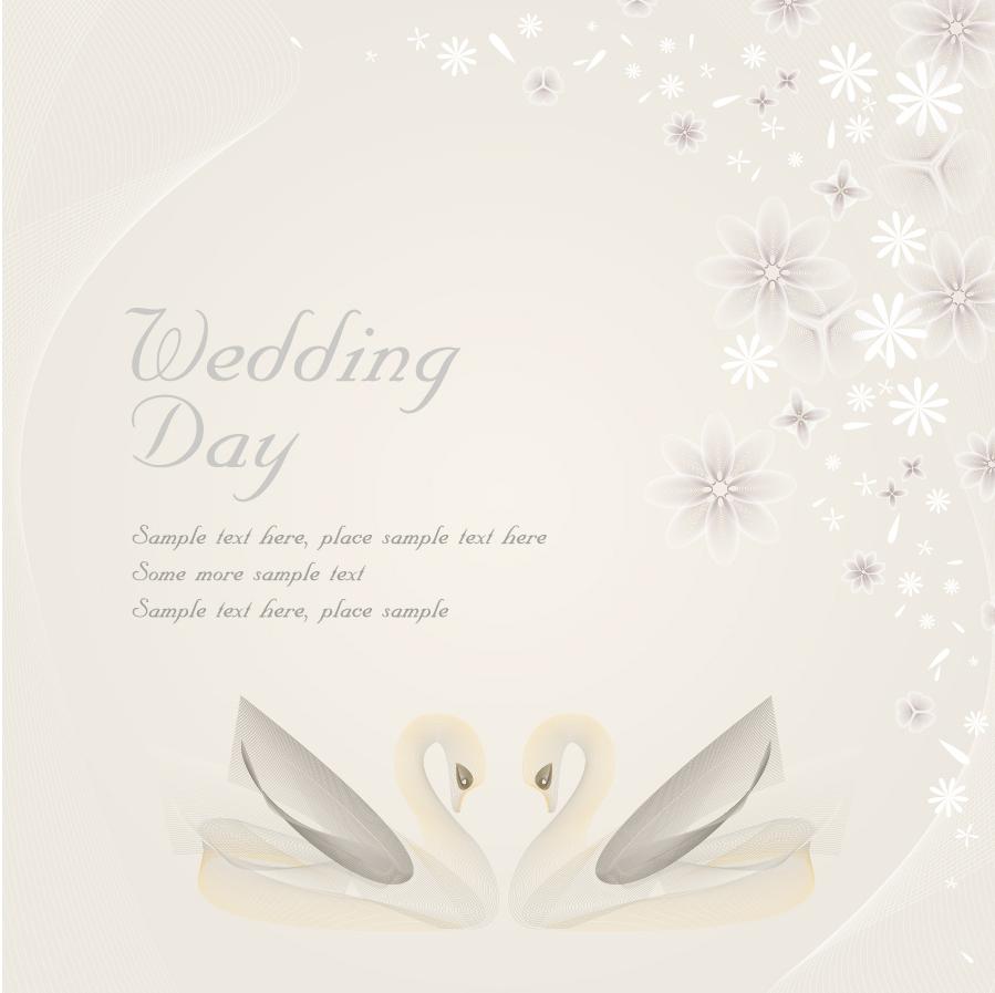 結婚祝い カードテンプレート wedding template vector イラスト素材4
