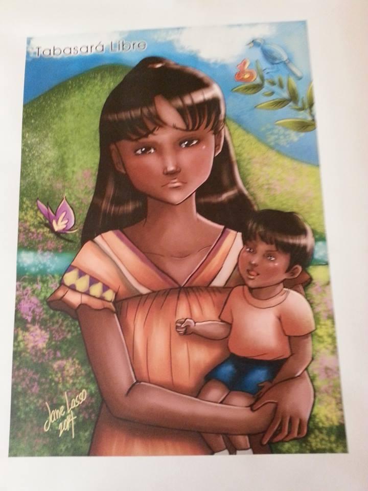 Impresión en canvas en tamaño A3 de Tabasará Libre