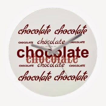Celebrate Chocolate Frameless Wall Clock