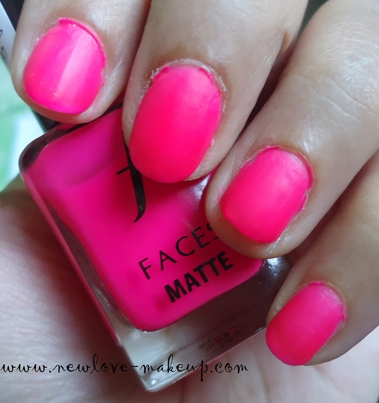 Faces Matte Nail Enamel 76 Bubblepop Review, NOTD