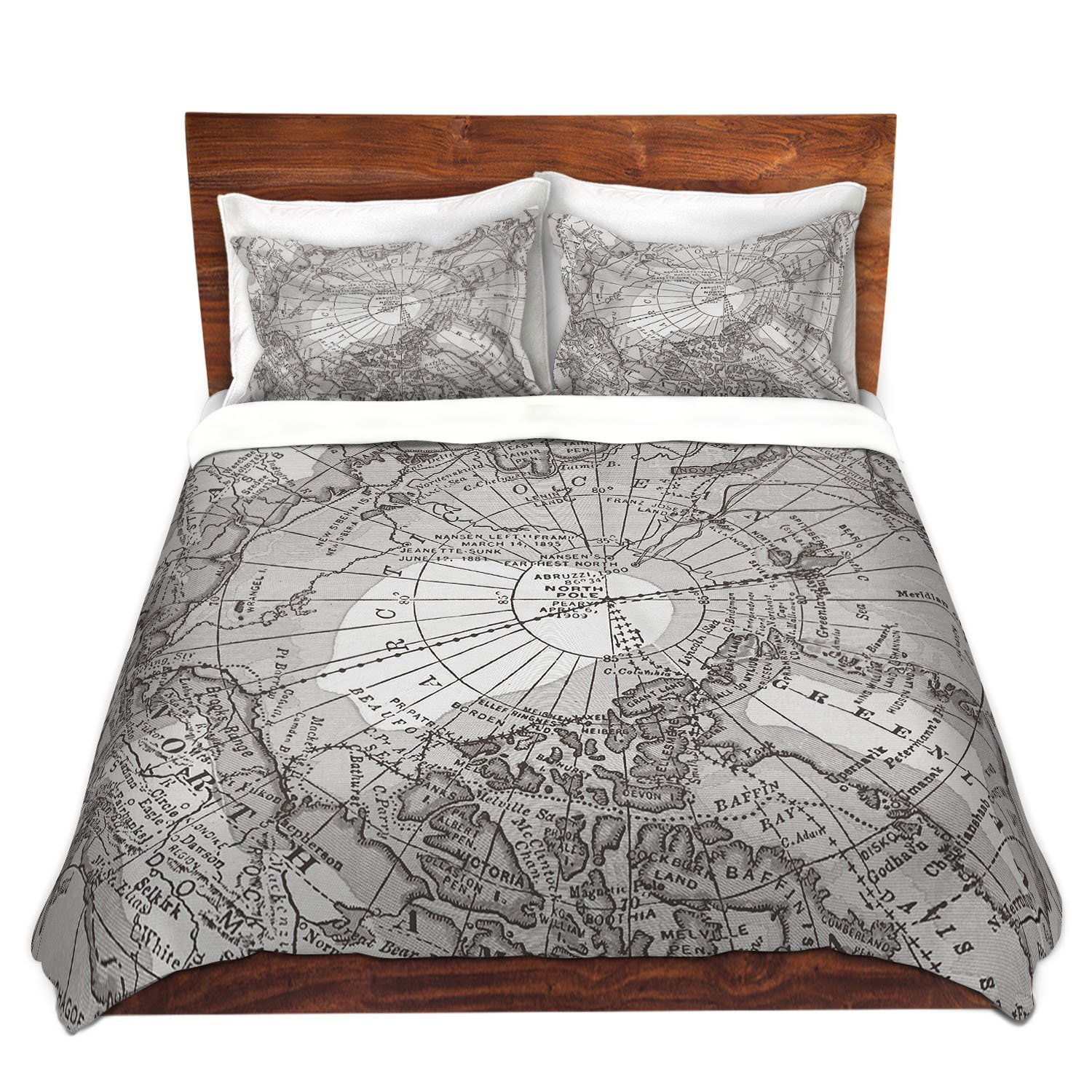 World map themed comforter and bedding sets black white old world bedding duvet cover gumiabroncs Image collections