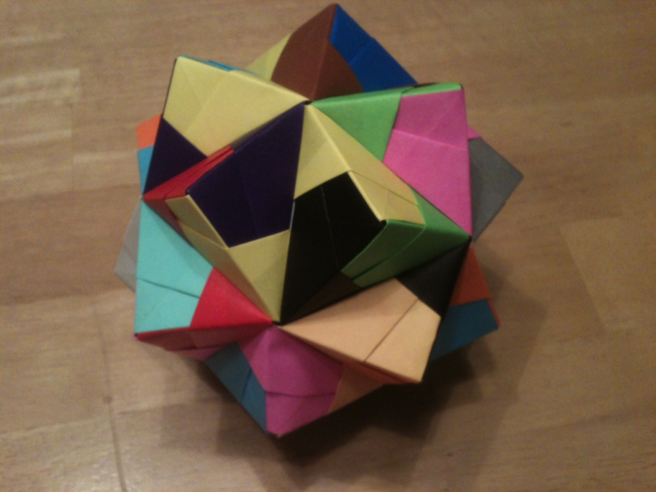 My flavor of origami rc lewis its called a stellated icosahedron the stellated means its pointy and star like the icosahedron means if those pointy parts were flattened down jeuxipadfo Gallery