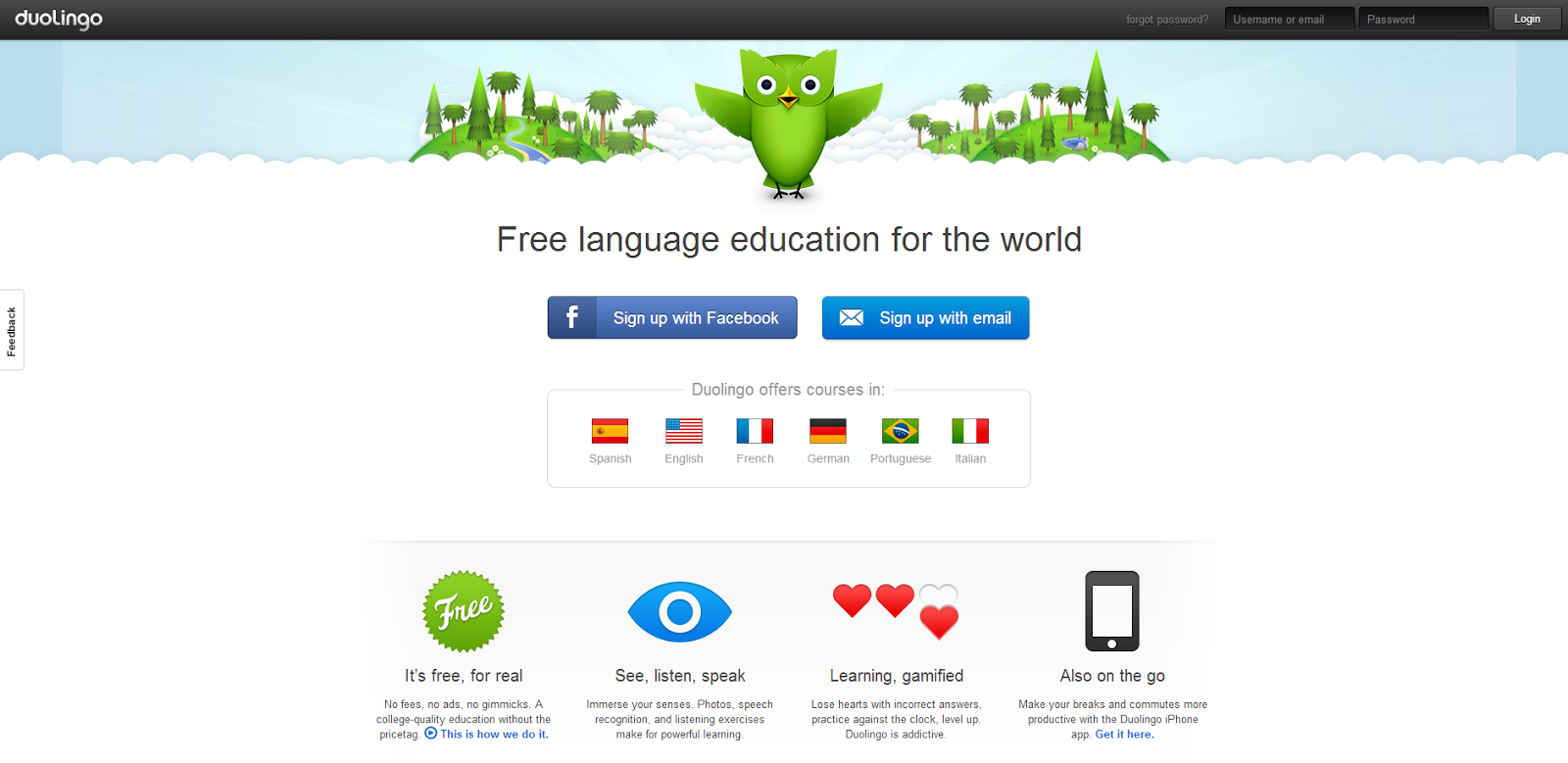 learn portuguese on line: