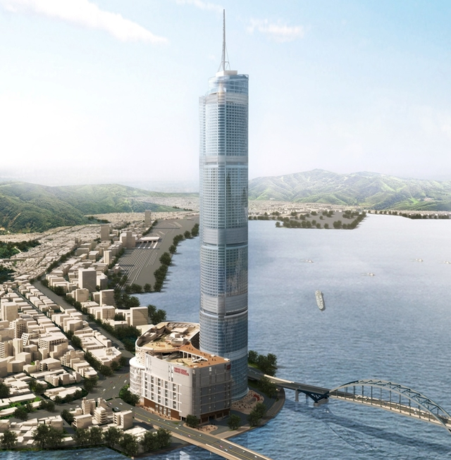 Rendering of the Lotte Town Tower