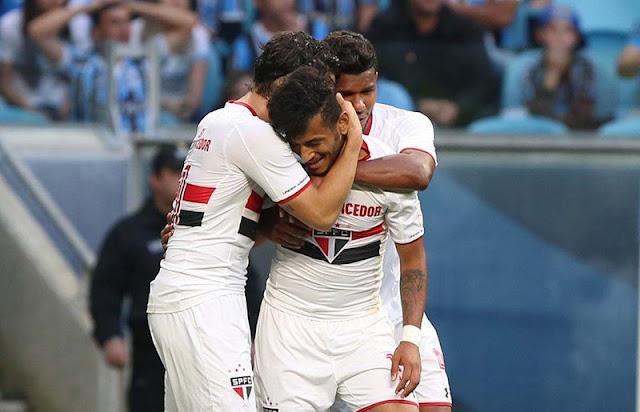 O atacante Rogério entrou no segundo tempo e anotou mais um gol pelo São Paulo (Foto: Rubens Chiri/São Paulo)