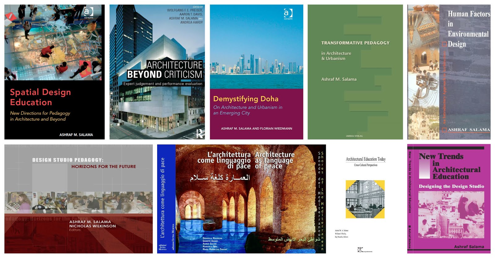 Professor Ashraf Salama's Authored and Co-Edited Books