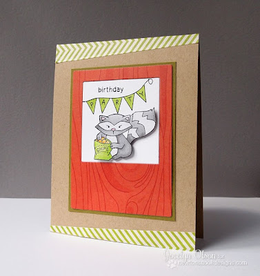 Raccoon Party Card by Jocelyn Olson for Newtons Nook Designs