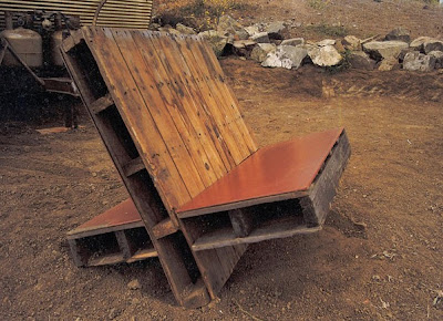 Chair made of pallets