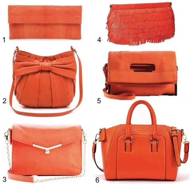 orange handbags