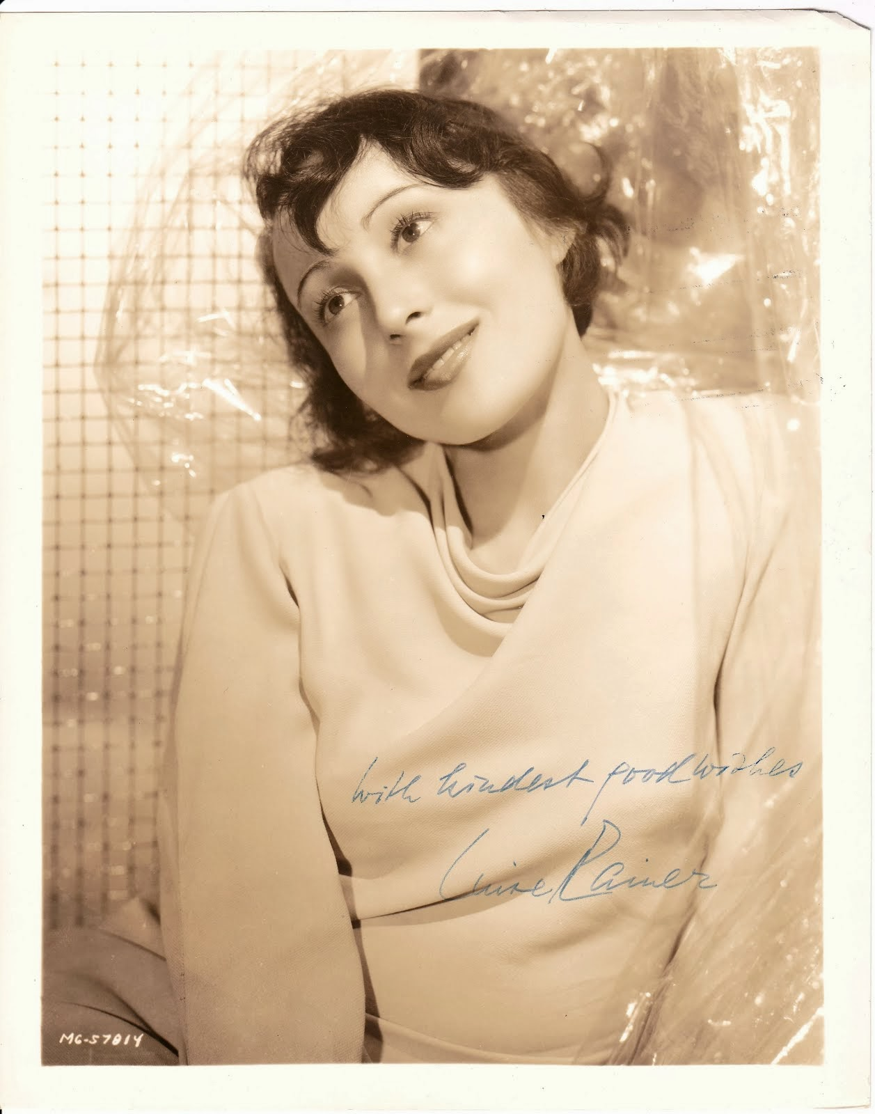Academy Award Winner Luise Ranier VINTAGE 8x10 auto. photo