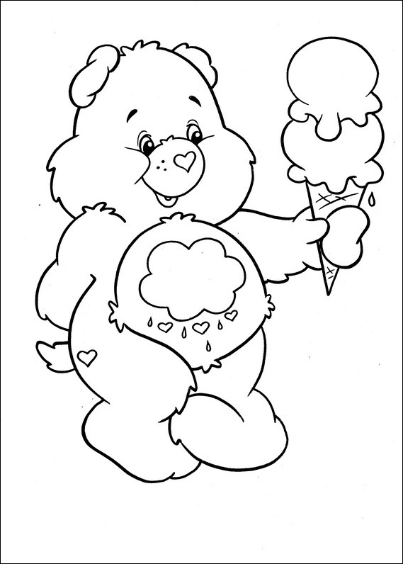 Care Bears Colouring Page Kids