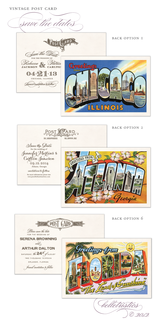vintage wedding save the date greetings from atlanta chicago columbus printable diy
