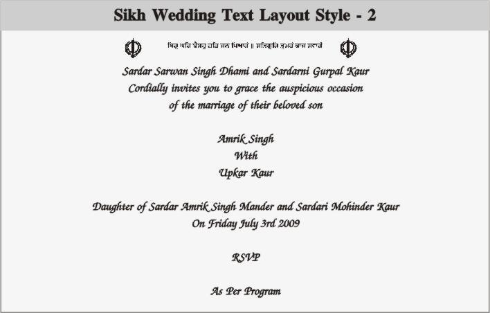 Wedding and Jewellery: punjabi wedding invitation wording