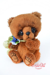 Artist teddy bear, teddy bear jointed, teddy bear ooak, teddy handmade, teddies with charm, Künstlerbär, Teddybär, Künstlerteddy, NatalKa Creations, авторский медведь тедди, мишка тедди, медвежонок тедди