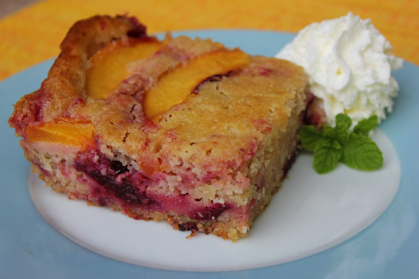 ... plums, peaches, Americas Test Kitchen Peach Summer Cake, Copycat