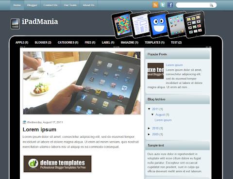 iPadMania Blogger Theme