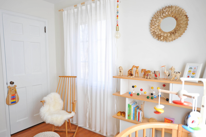 Modern Colorful Baby Girl Nursery