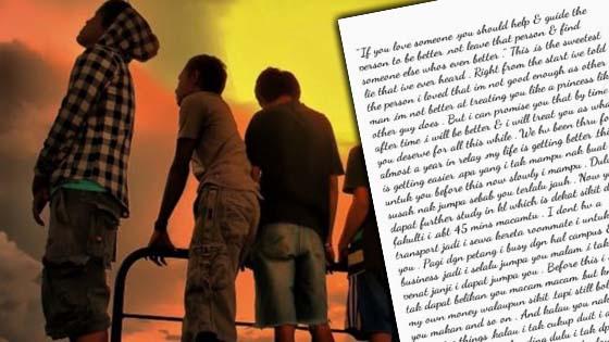 Lelaki terbaca nota rahsia rakannya dan viralkan