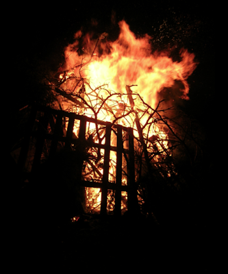 Osterfeuer in Holthausen 2012