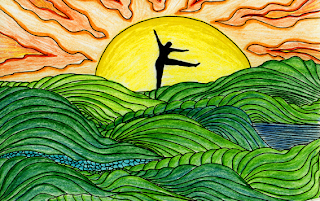 Dancing in Sunset Art