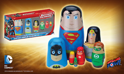 Justice League Classic Wood Nesting Dolls Now Available for Pre-Order